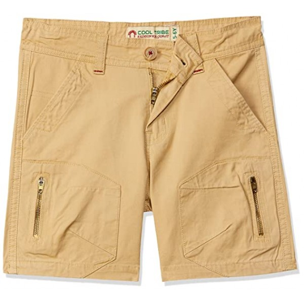 COOL TRIBE Boy's Regular fit Cotton Shorts