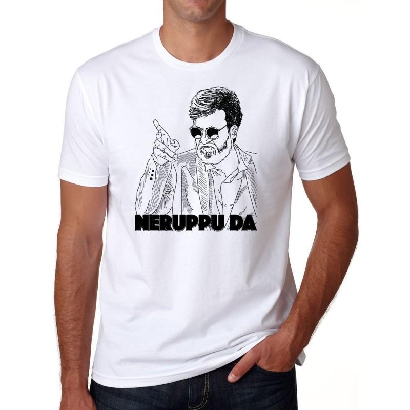 Rajinikanth Neruppu da T Shirt