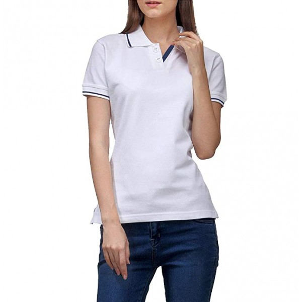 Foranje Women's Premium Cotton Polo T-Shirt